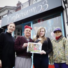 Art student sees her design splashed across shopfront