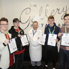 Celebrations for award-winning Hospitality learners