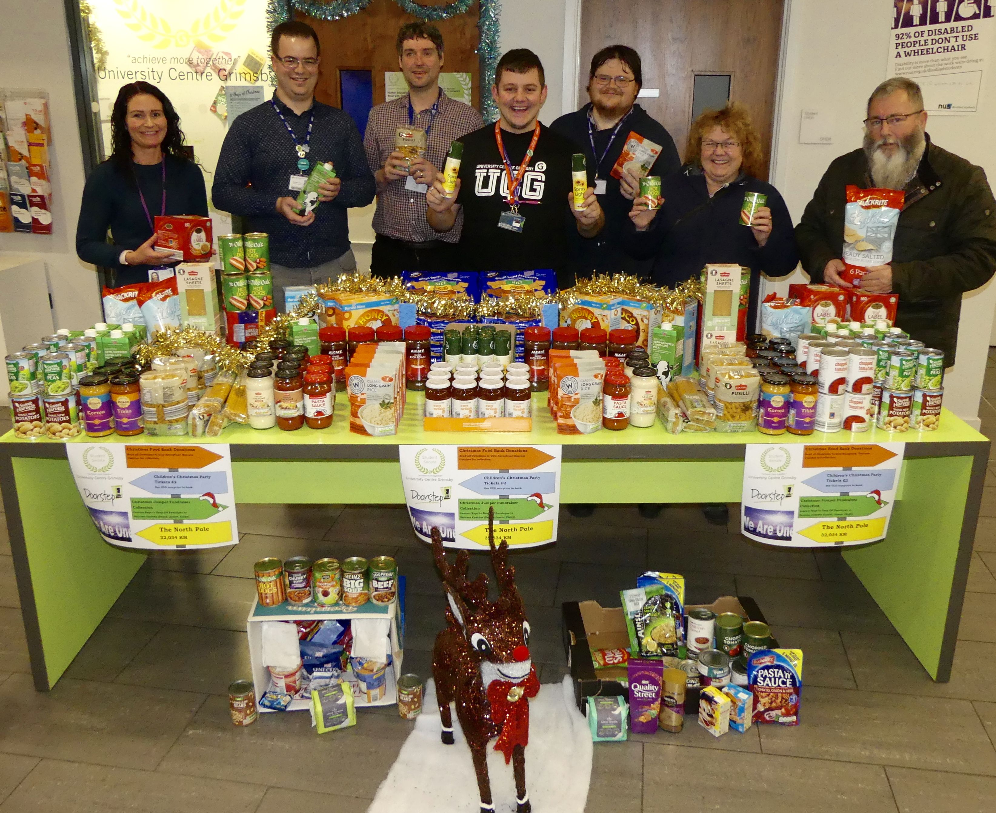 Festive food donation to two charitable organisations